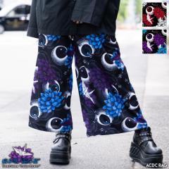 ハスノハナ ワイドパンツ パンツ ボトムス 原宿 原宿系 病みかわいい 病みかわ ファッション パンク ロック V系 レディース メンズ 個性