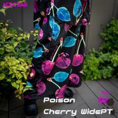 チェリーワイドパンツ 原宿系 ファッション パンツ ワイド パンク ロック V系 ヴィジュアル系 病み 服 病みかわいい 病みカワ 大きいサイ