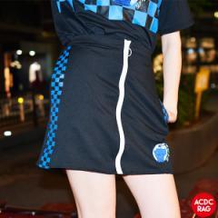 アップルチェックタイトスカート | スカート ミニスカート 原宿系 韓国 ファッション レディース 刺繍 派手 かわいい 派手カワ ストリー