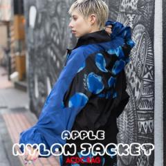 リンゴ ナイロンジャケット 長袖 アウター ブルゾン ジャケット コート 原宿 原宿系 病みかわいい ファッション パンク ロック レディー