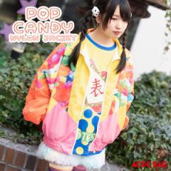 POPキャンディ ナイロンジャケット 長袖 アウター ブルゾン ジャケット 原宿 原宿系 ゆめかわいい かわいい ファッション ファンシー メ