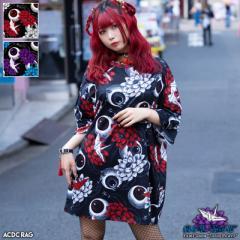 ハスノハナ ヒュージTシャツ 半袖 原宿 原宿系 病みかわいい 病みかわ ファッション パンク ロック V系 レディース メンズ 個性的 派手カ