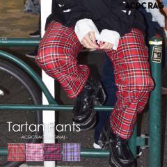 タータンチェックパジャマパンツ パンク ロック ファッション V系 病みかわいい 原宿系 パンツ ワイドパンツ ロング メンズ レディース