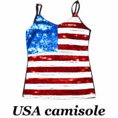 USAスパンコールキャミソール | スパンコール キャミソール ダンス衣装 ダンス 衣装 ヒップホップ ガールズ  タンクトップ ノースリーブ