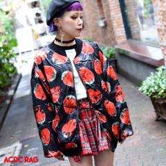 イチゴ MA-1 ブルゾン アウター ジャケット 苺 原宿 原宿系 ファッション 派手 かわいい 病み 服 病みかわいい メンズ レディース パンク