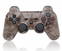 【新品】【PS3HD】【海外製】ワイヤレスコントローラ互換brown Woodgrain[お取寄せ品]