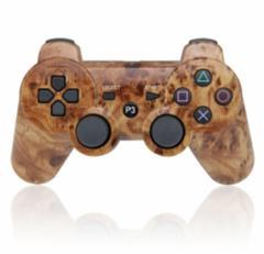【新品】【PS3HD】【海外製】ワイヤレスコントローラ互換Woodgrain[お取寄せ品]
