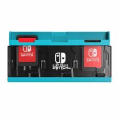 【新品】【NSHD】プッシュカードケース6 for Nintendo Switch ネオンブルー[在庫品]
