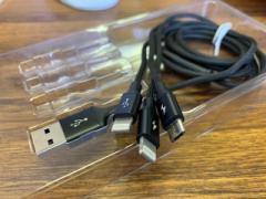 ライトニング 充電 スマホ ケーブル Iphone+Iphone+Micro USB 3A 急速充電 1本3役 多機種対応 1.2m MATOMATTEMAS-BK