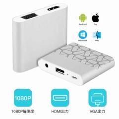 HDMI VGA変換アダプタ 全対応 Lightning Micro USB iphone ipad Andriod スマホ HDVGAADA