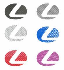 【20日〜24日はポイント10%】ハセプロ マジカルカーボン ステアリングエンブレム用 レクサス1 レギュラーカラー(CESL-1)