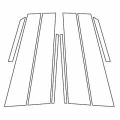 【20日〜24日はポイント10%】ハセプロ《マジカルカーボン》ピラー レクサス UX 10系 2018.11〜 ブラック(CPL-10)