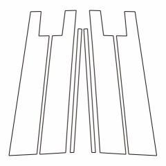 【20日〜24日はポイント10%】ハセプロ《マジカルアートシートNEO》ピラースタンダードセット バイザーカットタイプ トヨタ ライズ