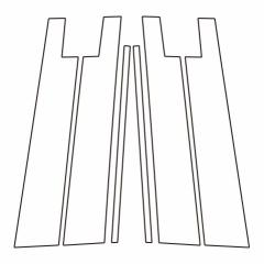 【20日〜24日はポイント10%】ハセプロ《マジカルアートシート》ピラースタンダードセット バイザーカットタイプ トヨタ ライズ A200
