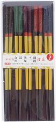 日本製(福井県) 食洗機対応若狭塗箸 塗箸光琳吹雪5膳セット 長さ22.5cm