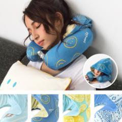 ひんやり 冷感ネックピロー U型 携帯枕 旅行用 飛行機 昼寝クッション バス オフィス うつぶせ枕 フード付 首枕