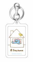 アマビエキーホルダー01 #Stay home カラーは2色 妖怪 疫病退散 コロナウィルス対策 GSJ141 イラスト キーホルダー グッズ