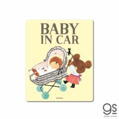 くまのがっこう 車用ステッカー  BABY IN CAR キャラクターステッカー ベビーインカー くま イラスト かわいい 車 お祝い KMG011 公式