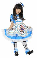 コスチューム 子供 女の子 ハローキティ サンリオ アリスキティ ブルー 幼児 サイズ 3 ~4才 80 ~ 100cm トドラー 不思議の国のアリス 青