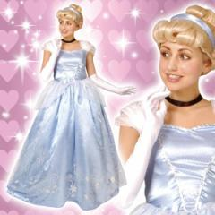 ディズニー コスチューム 大人 女性用 シンデレラ プリンセス ドレス デラックス ウィッグ付 仮装 ハロウィン
