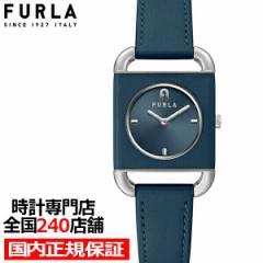 4月23日発売 FURLA フルラ ARCO SQUARE アルコ スクエア FL-WW00017001L1 レディース 腕時計 クオーツ 電池式 革ベルト ネイビー