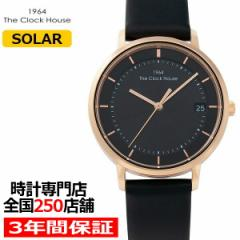 ザ・クロックハウス カジュアルスタイル LCA1003-BK1B レディース 腕時計 ソーラー 革ベルト ブラック シンプル ミニマル