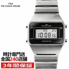 ザ・クロックハウス タウンカジュアル メタル デジタル ユニセックス 腕時計 オクタゴン ブラック シルバー レトロモダン 防水 MTC7001-B