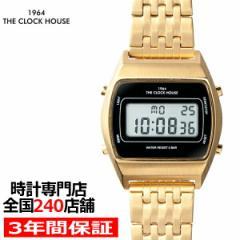 ザ・クロックハウス タウンカジュアル 限定モデル メタル デジタル ユニセックス 腕時計 トノー ブラック レトロモダン 防水 MTC7003-BK2