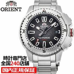 オリエント スポーツ M-FORCE 陸 RN-AC0N01B メンズ 腕時計 機械式 自動巻き メタルバンド ブラック