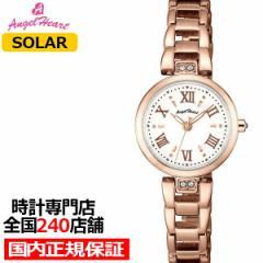 エンジェルハート スパークルタイム ST24PG レディース 腕時計 ソーラー ステンレス ホワイト スワロフスキー
