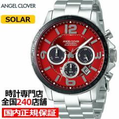 エンジェルクローバー タイムクラフトソーラー TCS44SRE メンズ 腕時計 ソーラー メタルベルト クロノグラフ レッド