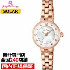 エンジェルハート トゥインクルハート TH23PG レディース 腕時計 ソーラー ステンレス ホワイト スワロフスキー