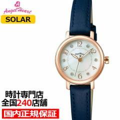 エンジェルハート トゥインクルハート THN24P-NV レディース 腕時計 ソーラー 革ベルト ホワイトパール スワロフスキー