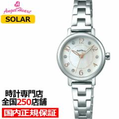 エンジェルハート トゥインクルハート THN24SS レディース 腕時計 ソーラー メタルベルト ホワイト スワロフスキー