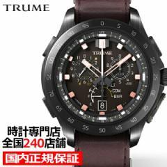 TRUME トゥルーム Lコレクション ブレークライン キャニオンブラウン TR-MB7014 メンズ 腕時計 ライトチャージGPS衛星電波 レザーバンド