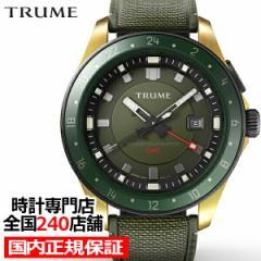 TRUME トゥルーム Lコレクション ブレークライン TR-ME2001 メンズ 腕時計 自動巻発電 GMT セラミックベゼル ナイロンバンド グリーン