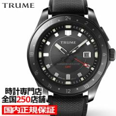 TRUME トゥルーム Lコレクション ブレークライン TR-ME2002 メンズ 腕時計 自動巻発電 GMT セラミックベゼル ナイロンバンド ブラック