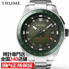 TRUME トゥルーム Lコレクション ブレークライン TR-ME2007 メンズ 腕時計 自動巻発電 GMT セラミックベゼル メタルバンド グリーン エプ