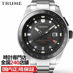 TRUME トゥルーム Lコレクション ブレークライン TR-ME2009 メンズ 腕時計 自動巻発電 GMT セラミックベゼル メタルバンド ブラック エプ