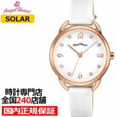 エンジェルハート ヴィーナス VI31P-WH レディース 腕時計 ソーラー 革ベルト ホワイト スワロフスキー