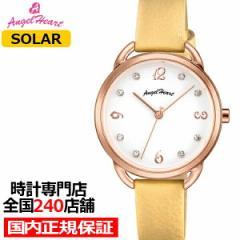 エンジェルハート ヴィーナス VI31P-YE レディース 腕時計 ソーラー 革ベルト イエロー スワロフスキー