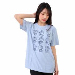 Im Doraemon カチオン 杢 ドライ 半袖 Tシャツ ドラえもん 9つの表情 大人用 送料無料