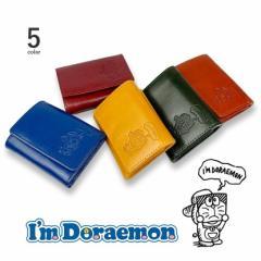 ドラえもん 藤子プロ 高級イタリアンレザー 三つ折り財布 超ミニウォレット(dor-4) 送料無料