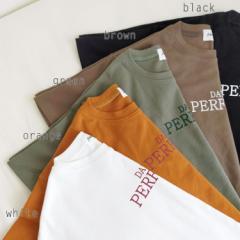 レディース トップス もっちり素材が心地いい半袖ロゴTシャツ 夏 秋 送料無料