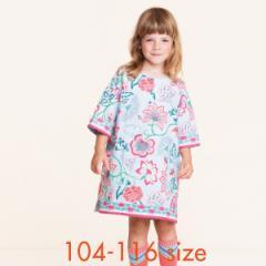 40%OFFセール オイリリー 公式 キッズ 女の子 大花柄 ブルー ワンピース  100 110 120 サイズ ボタニカル ストレスフリーなワンピース