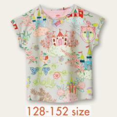 40%OFFセール オイリリー 公式 キッズ 女の子 Tシャツ 夢のお城プリント130 140 150 サイズ