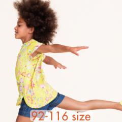 40%OFFセール オイリリー 公式 キッズ 女の子  Tシャツ パステルフラワープリント 100 110 120 サイズ 黄色 イエロー