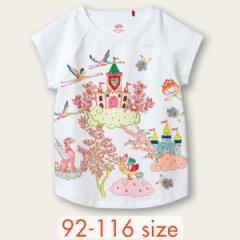 40%OFFセール オイリリー 公式 キッズ 女の子  Tシャツ 夢のお城 ホワイト 白色  100 110 120 サイズ