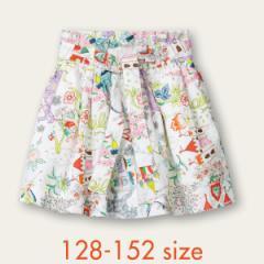 40%OFFセール オイリリー 公式 キッズ 女の子 スカート 夢のお城 プリント コットン 130 140 150 サイズ
