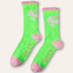 40%OFFセール オイリリー 公式 キッズ 女の子 ソックス グリーン ショート丈 靴下 運動会 目立つ